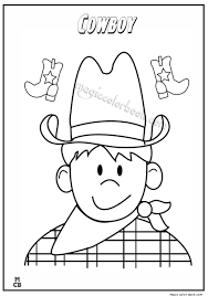 cowboy coloring pages 08