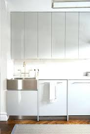 white lacquer kitchen cabinets kitchen modern with bed cable stair