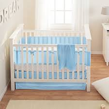Blue Crib Bedding Set Breathablebaby Safety Crib Bedding Set Blue Mist 3