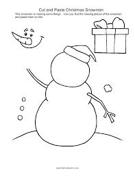 snowman writing paper printable cut and paste activities christmas cut and paste snowman
