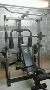 Nautilus Bench Press Nautilus Smith Machine Multi Gym Bench And Weight Plates In