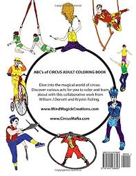 abc u0027s circus coloring book william dorsett krystin