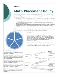 secondary education 6 12 math placement policy