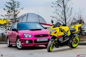 pink subaru subaru impreza pink u0026 moto suzuki gsxr u2014 drive2