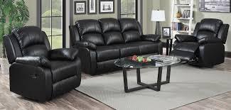 leather livingroom set 3 1 1 seater black recliner leather sofa set sofashop