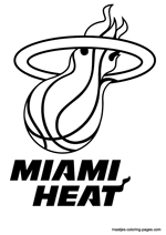 basketball logo coloring pages miami heat nba coloring pages