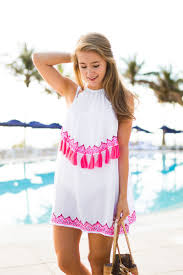 pink tassel cover up summer fashion tips summer style ideas
