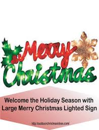 merry lighted sign