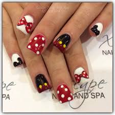 mickey mouse nail designs cute nails designs pinterest