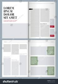 sophisticated magazine layout template stock vector 314180522