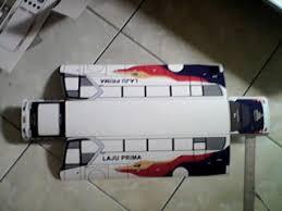 membuat miniatur mobil dari kardus cara membuat miniatur bis dari karton versi 2 reza miniatur bis