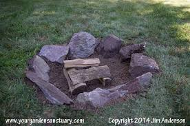Cheap Backyard Fire Pit by Cheap Easy Fire Pit From Some Stones And A Shovel