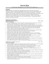 project manager cv template project manager cv example 7 architectural management resume