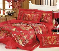 Red Duvet Set Chinese Festive 100 Cotton Queen U0027s Bedding Quilt Doone Duvet