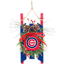 chicago cubs wood sled ornament mlbshop