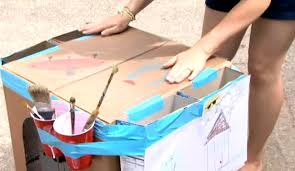 How To Make A Cardboard Desk Paper Crafts Howcast The Best How To Videos On The Web