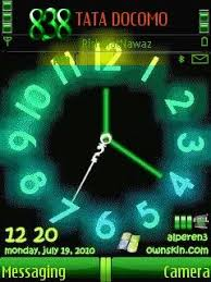 theme clock swf neon clock theme for nokia c5 free
