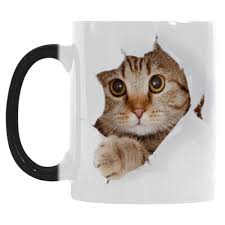 Color Changing Mugs Cute Cat Mug Morphing Coffee Mugs Heat Changing Color Reactive
