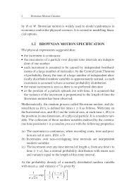 brownian motion calculus