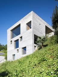 House On Slope New Concrete House By Wespi De Meuron Architekten