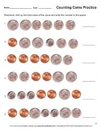 counting coins worksheet 6 tim u0027s printables