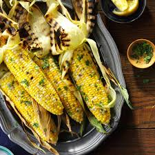 thanksgiving recipes corn basil grilled corn on the cob recipe taste of home