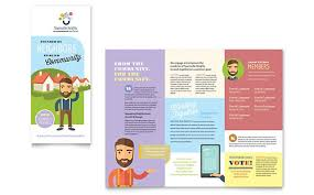 Volunteer Brochure Template by Non Profit Templates Brochures Flyers