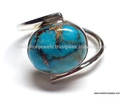 blue gemstones rings images Blue copper mohave turquoise cabochon gemstone 925 sterling silver jpg