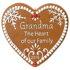 grandma gingerbread heart ornament keepsake ornaments hallmark