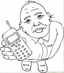 cell phone coloring free telecom coloring pages