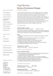 Resume Template For Manager Position Business Operations Manager Resume Examples Cv Templates Samples