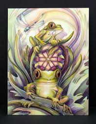 Leanin Tree Dog Christmas Cards by Get Well Soon Greeting Card Jody Bergsma Frogs Don U0027t Worry Be