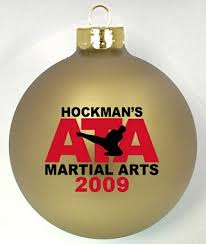 martial arts logo custom ornaments