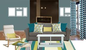 Teal Blue Living Room by Beautiful Impression Concentration Accent Chairs For Small Spaces