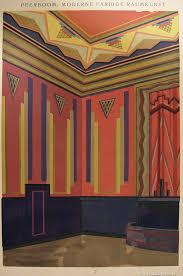 art deco navy u0026 pink pochoir 1929 deco interiors interior
