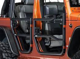 how to take doors a jeep wrangler rugged ridge wrangler black textured rear doors pair