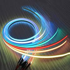 12v 1m flexible glow el tape led light el wire rope cable waterproof led strip lights