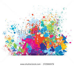 color background paint splashes stock vector 372888979 shutterstock