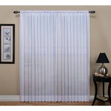 Extra Wide Curtain Rods Tergaline Extra Wide Tailored Rod Pocket Curtain Panel With