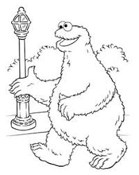 cookie monster play scooter coloring pages peter u0027s 1st bday