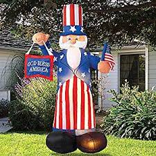Inflatable Lawn Decorations Amazon Com Giant Airblown Uncle Sam Yard Decoration Inflatable