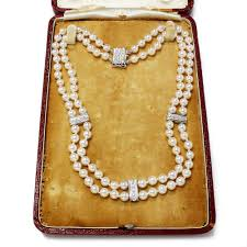 pearl necklace diamonds images Mikimoto pearl necklace with diamonds in 18k white gold 5 50mm jpg