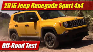 orange jeep 2016 2016 jeep renegade sport 4x4 off road test youtube