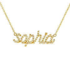 Name Neclace Diamond Name Necklace Ring Concierge