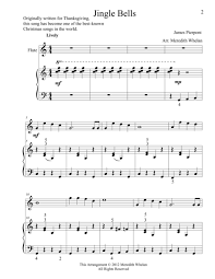duets for flute piano jingle bells sheet