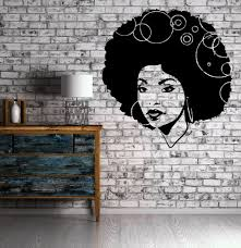 beautiful african woman curly hair sexy art decor wall mural vinyl beautiful african woman curly hair sexy art decor wall mural vinyl sticker m449