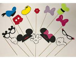 mickey mouse photo booth props mickey photo prop etsy
