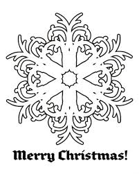 snowflake merry christmas free coloring pages christmas