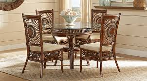 island sunrise brown rattan 5 pc dining set dining room sets
