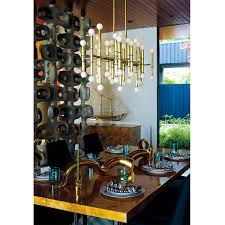 meurice rectangle nickel chandelier modern chandeliers